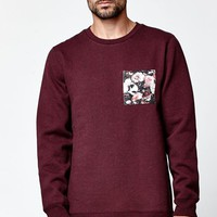 On The Byas Hart Chest Pocket Crew Fleece - Mens Hoodies - Red