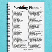 "Wedding Planner -- 5"" x 7"" Journal, notebook, diary, sketch book, memory book, scrapbook"
