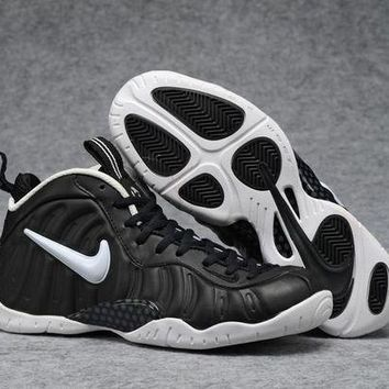 UCANUJ3V Air Foamposite Pro Black/White Basketball Shoe Size 40--47