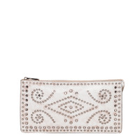 Prada Vintage Embellished Leather Clutch