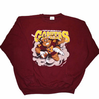 Vintage 90s Minnesota Gophers Football Crewneck Sweatshirt Made in USA Mens Size XXL
