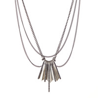 Ray Pave Chain Necklace