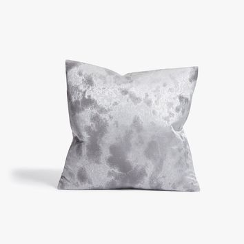Jacquard Gray Throw Pillow