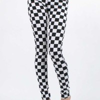 Tripp NYC Skinny T-Jean Pants in Black/White Checkered