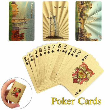 54PCS Luxury 24K Gold Foil Plated Poker Playing Cards