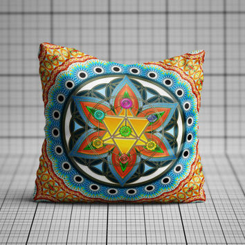 Sacred Geometric Chakra Cushion Cover