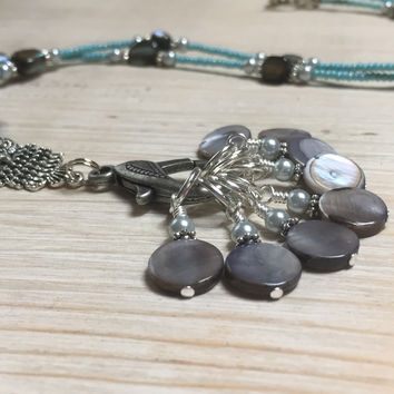 Owl Stitch Marker Necklace With Stitch Markers