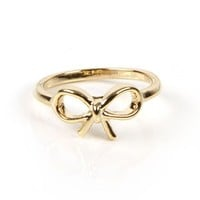 Gold Midi Bow Ring
