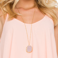 Havanna Crystal Necklace - Pink