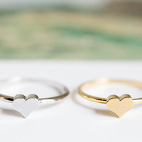 heart mid knuckle ring/heart ring/knuckle ring/gold knuckle ring/pinky ring,R172N