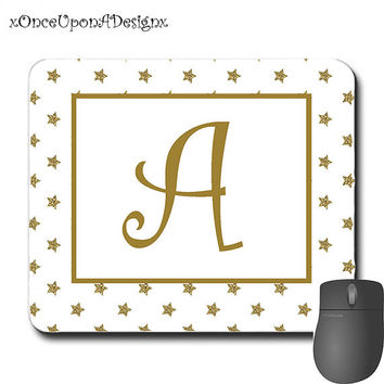 Nice Personalized Mouse Pad -Stars Personalized Monogrammed Computer Mousepad
