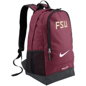 Nike Florida State Seminoles Max Air Team Training Large Backpack