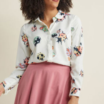 Acclaimed Originality Button-Up Top
