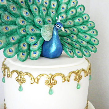 Fondant Mold for Small Peacock Tail Feather