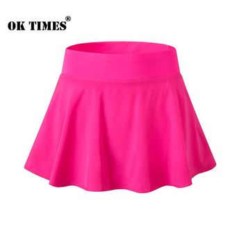 #2074 Women Ladies Workout Gym Yoga Training Athletic Sports Dance Wear Lining Protection Tennis Skorts Mini Skirt EUR S~XXL
