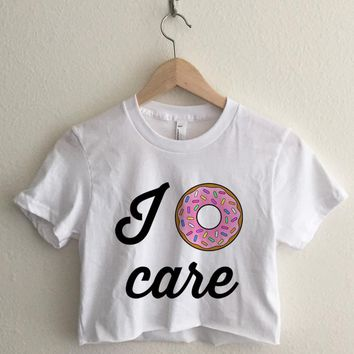 I Donut Care Crop Top