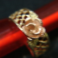 Vintage CCO Coleman Blackhills Gold Rose Ring SZ. 6