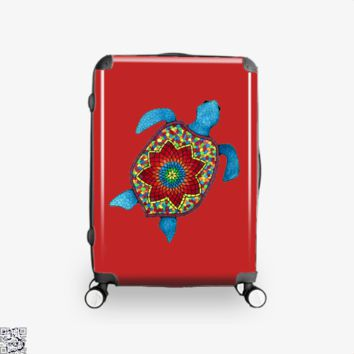 Turtley Awesome Mosaic Watercolor Turtle, Sea Turtles Suitcase