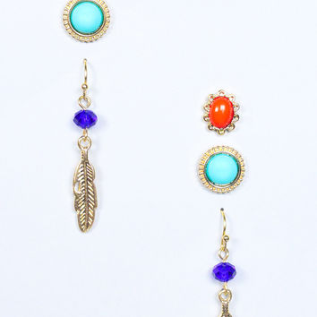 Perfect In Threes Earring