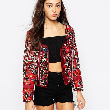 Mochi | Mochi Trophy Jacket with Mirror Embroidery at ASOS
