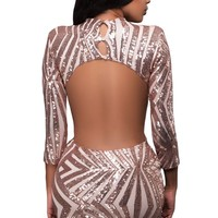 Chicloth Open Back Party Dress