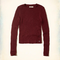 Girls Slim Crop Crewneck Sweater | Girls Tops | HollisterCo.com