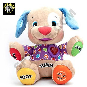 HD Interactive Doll Toy - Wi-Fi Hidden Dog Camera & Recorder