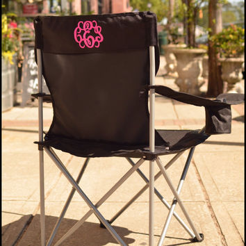 Monogrammed Outdoor Folding Chair - Personalized Stadium Chair, Sports Chairs, Beach chairs, Portable chairs, Tailgating chairs