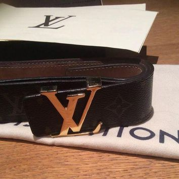 DCCKRQ5 Louis Vuitton Monogram Belt With Receipt 90cm Unisex