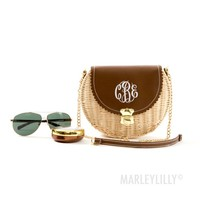 Monogrammed Wicker Purse | Marleylilly