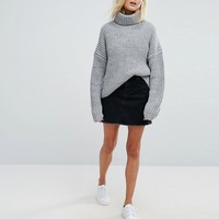 Weekday Elongated Sleeve Roll Neck Sweater at asos.com