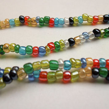 Iridescent multi color Murano glass beads from Venice, Italy