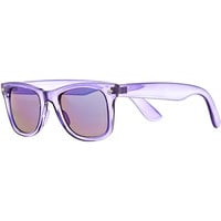 River Island MensPurple clear retro sunglasses