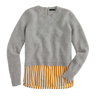 J.Crew Womens Lambswool Shirttail Sweater In Stripe