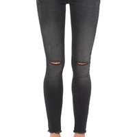 Ripped Jeans - Dark Grey