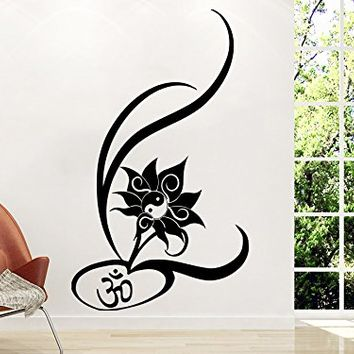 Wall Decal Vinyl Sticker Decals Mandala Namaste Lotus Flower Indian Lotus Yoga Wall Stickers Home Decor Art Bedroom Design Interior Wall Decor Mural C191