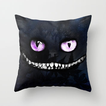 CHESHIRE Throw Pillow by Julien Kaltnecker