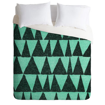 Nick Nelson Analogous Shapes 1 Duvet Cover