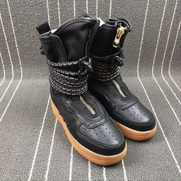 ESBU3S Sale Newest Nike SF Air Force 1 High AF1 HI Black Functional Boots AA3965-001-1
