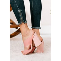 Picture Of Innocence Cut Out Heels (Pink Frost)