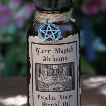 Psychic Vision Ritual Natural Perfume Oil .5 . White Magick Alchemy . Clairvoyance, Psychic Awareness, Spiritual Workings, Enlightenment