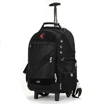 Trolley Shoulder Backpack Rolling Luggage Caster Suitcase