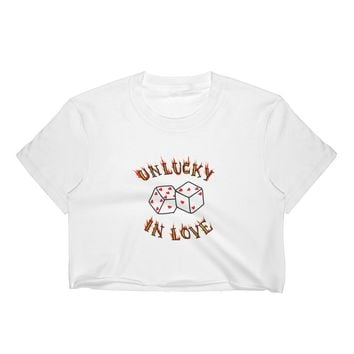 Unlucky in Love Dice Crop Top