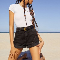 BDG Mom High-Rise Denim Short – Black | Urban Outfitters