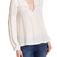 Harlowe & Graham | Lace Inset Blouse | Nordstrom Rack