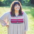 PLUS SIZE: Bohemian Print Sundress in Taupe