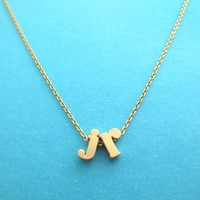 Double Lower initial necklace, Friendship Necklace