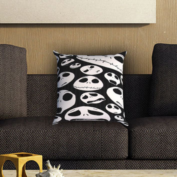 jack skellington nightmare before chrismas Pillow Cover , Custom Zippered Pillow Case One Side Two SIde