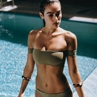 Nirvanic Swim Calista Bikini Top - Olive