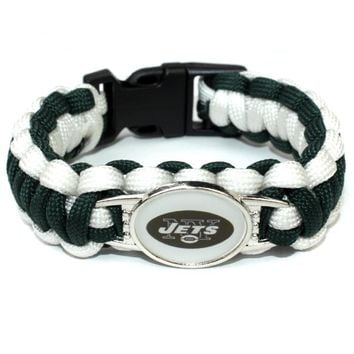Custom Football Paracord Survival Bracelet New York Jets Braided Bracelet Football Fans Gift Dropshipping